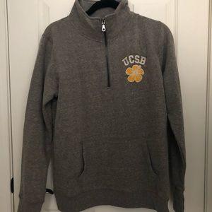 UCSB grey quarter zip hoodie BRAND NEW
